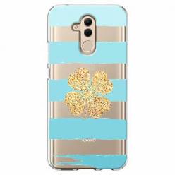 Etui na telefon Huawei Mate 20 Lite - Złota czterolistna koniczyna.