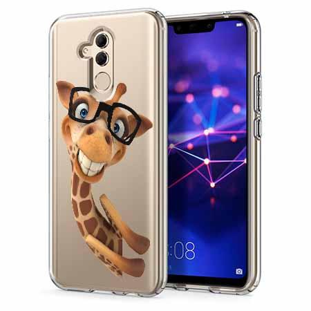 Etui na telefon Huawei Mate 20 Lite - Wesoła żyrafa w okularach.