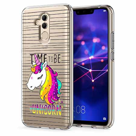 Etui na telefon Huawei Mate 20 Lite - Time to be unicorn - Jednorożec.