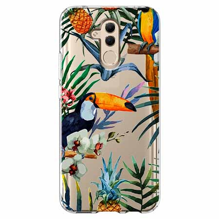 Etui na telefon Huawei Mate 20 Lite - Egzotyczne tukany.