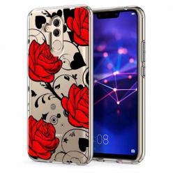 Etui na telefon Huawei Mate 20 Lite - Czerwone róże.