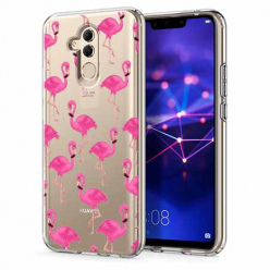 Etui na telefon Huawei Mate 20 Lite - Różowe flamingi.
