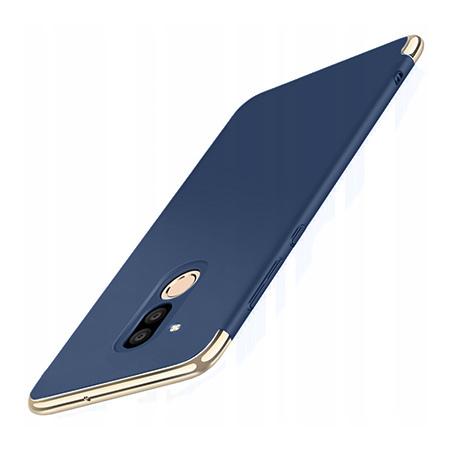 Etui na telefon Huawei Mate 20 Lite - Slim MattE Platynowane - Granatowy.