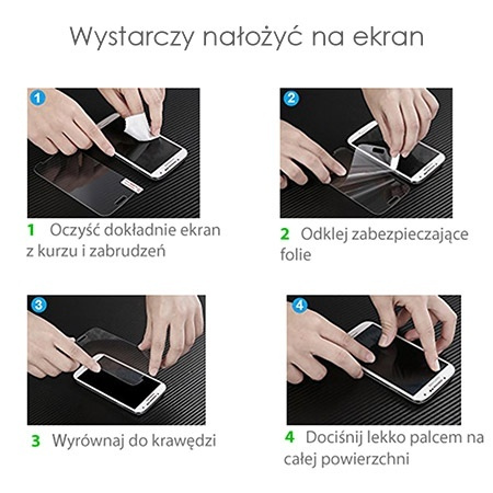 Huawei Mate 20 Lite - Hartowane szkło ochronne na ekran 9h - Czarny.