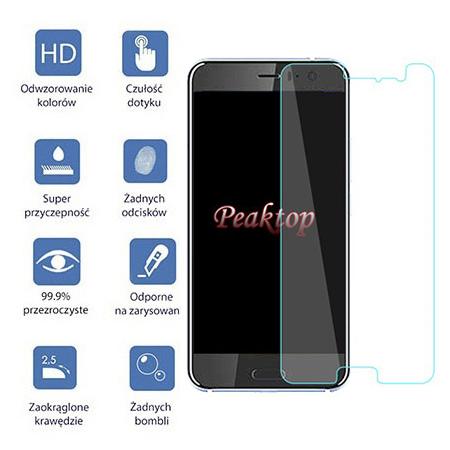 HTC U11 - hartowane szkło ochronne na ekran 9h.