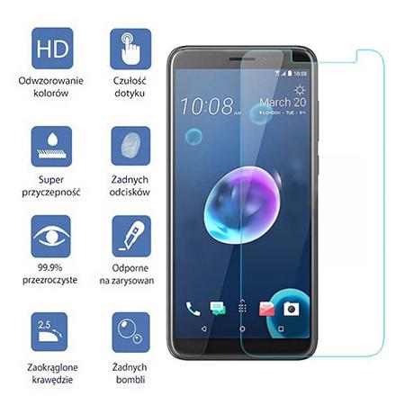 HTC Desire 12 - hartowane szkło ochronne na ekran 9h.