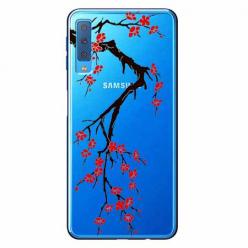 Etui na Samsung Galaxy A7 2018 - Krzew kwitnącej wiśni.