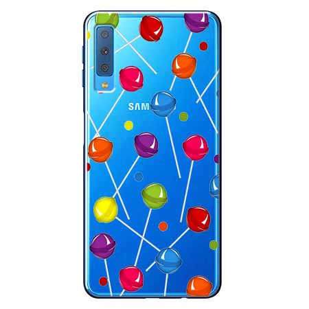 Etui na Samsung Galaxy A7 2018 - Kolorowe lizaki.