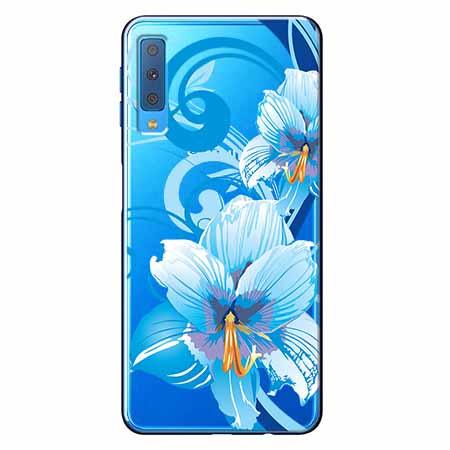 Etui na Samsung Galaxy A7 2018 - Niebieski kwiat północy.