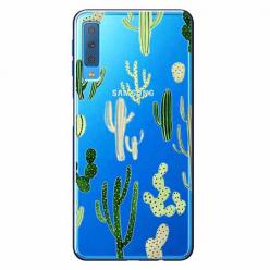 Etui na Samsung Galaxy A7 2018 - Kaktusowy ogród.
