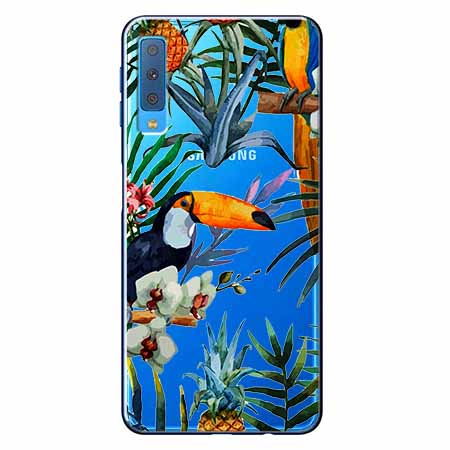 Etui na Samsung Galaxy A7 2018 - Egzotyczne tukany.