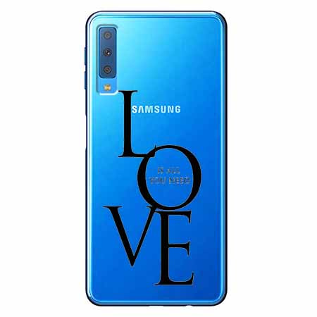 Etui na Samsung Galaxy A7 2018 - All you need is LOVE.