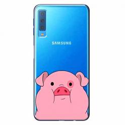 Etui na Samsung Galaxy A7 2018 - Słodka różowa świnka.