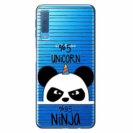 Etui na Samsung Galaxy A7 2018 - Ninja Unicorn - Jednorożec.