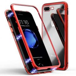 Etui metalowe Magneto na iPhone 7 Plus - Czerwony