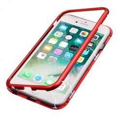 Etui metalowe Magneto na iPhone 8 - Czerwony