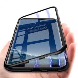 Etui Magnetyczne metalowe Magneto na iPhone 8 - Czarny