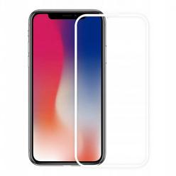 Apple iPhone X hartowane szkło 5D Full Glue - Biały