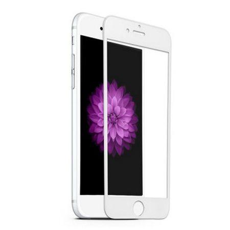 Apple iPhone 8 Plus - hartowane szkło 5D na cały ekran - Biały.