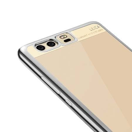 Platynowane etui na Huawei P10 Plus silikonowe SLIM tpu - srebrne.