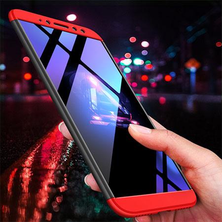 Etui na telefon Xiaomi Redmi S2 - Slim MattE 360 - Czarno/Czerwony.