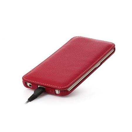 Pokrowiec na Galaxy S6 Edge Stilgut Ultraslim skóra  Czerwony