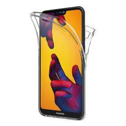 Etui na Huawei P20 Lite - silikonowe 360 Full przód i tył - przezroczyste.