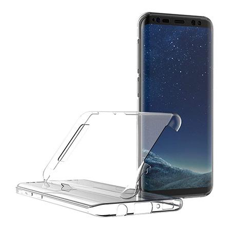 Etui na Samsung Galaxy S8 - silikonowe 360 Full przód i tył - przezroczyste.