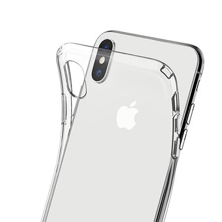 Etui na telefon Apple iPhone X - Złote koniczynki.