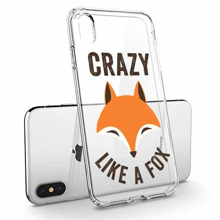 Etui na telefon Apple iPhone X - Crazy like a fox.