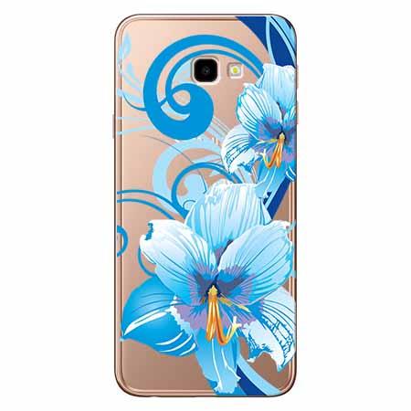 Etui na Samsung Galaxy J4 Plus - Niebieski kwiat północy.