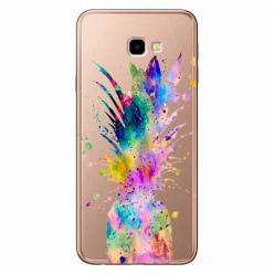 Etui na Samsung Galaxy J4 Plus - Watercolor ananasowa eksplozja.