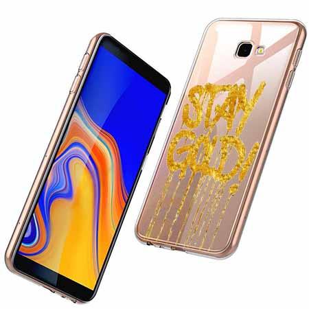 Etui na Samsung Galaxy J4 Plus - Stay Gold.
