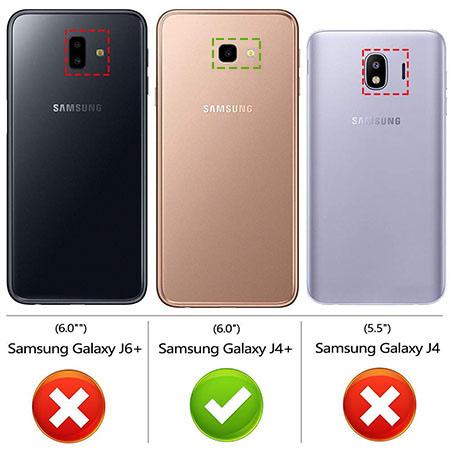 Etui na Samsung Galaxy J4 Plus - Tęczowy jednorożec na chmurce.