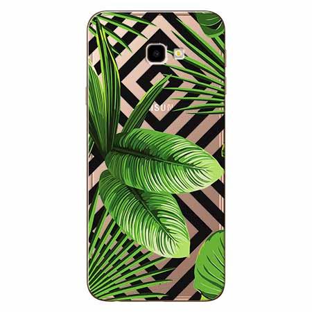 Etui na Samsung Galaxy J4 Plus -  Egzotyczne liście bananowca.