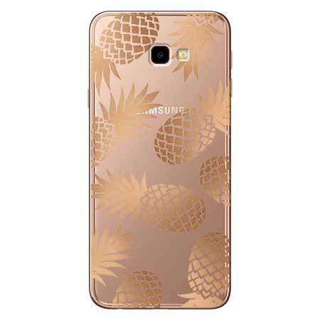 Etui na Samsung Galaxy J4 Plus - Złote ananasy.