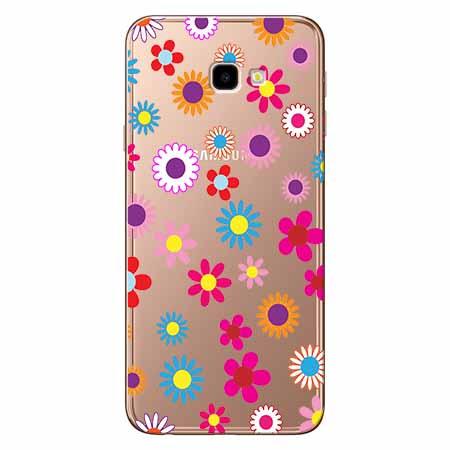 Etui na Samsung Galaxy J4 Plus - Kolorowe stokrotki.