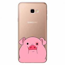 Etui na Samsung Galaxy J4 Plus - Słodka różowa świnka.
