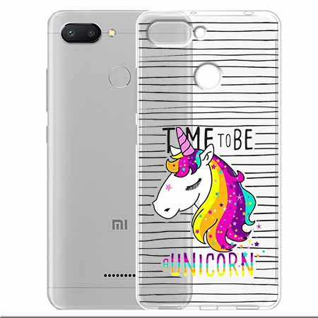 Etui na Xiaomi Redmi 6 - Time to be unicorn - Jednorożec.