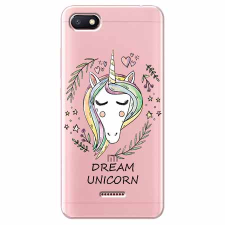 Etui na Xiaomi Redmi 6A - Dream unicorn - Jednorożec.