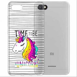Etui na Xiaomi Redmi 6A - Time to be unicorn - Jednorożec.