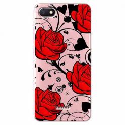 Etui na Xiaomi Redmi 6A - Czerwone róże.