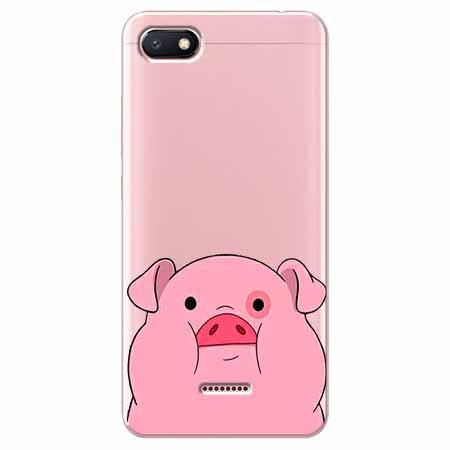 Etui na Xiaomi Redmi 6A - Słodka różowa świnka.