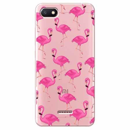 Etui na Xiaomi Redmi 6A - Różowe flamingi.