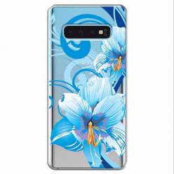 Etui na Samsung Galaxy S10 - Niebieski kwiat północy.
