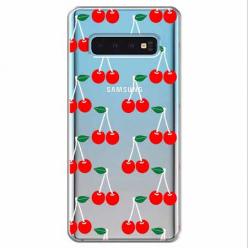 Etui na Samsung Galaxy S10 - Wiśniowa plejada.