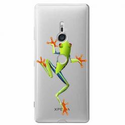 Etui na Sony Xperia XZ3 - Zielona żabka.