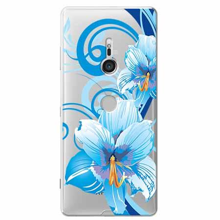 Etui na Sony Xperia XZ3 - Niebieski kwiat północy.