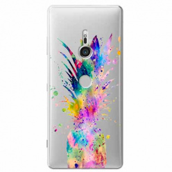 Etui na Sony Xperia XZ3 - Watercolor ananasowa eksplozja.