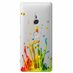 Etui na Sony Xperia XZ3 - Kolorowy splash.